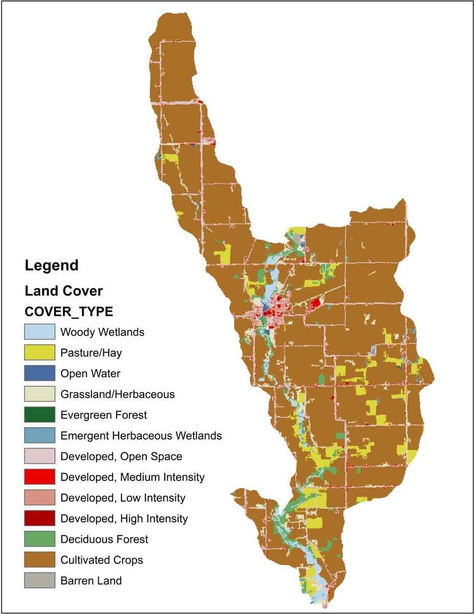 Land Cover Map for  Watershed